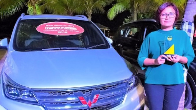 Wuling Penghargaan di Indonesian Car of The Year 2018.