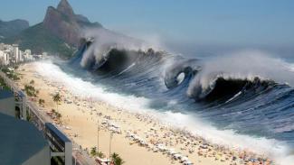 Ilustrasi tsunami.