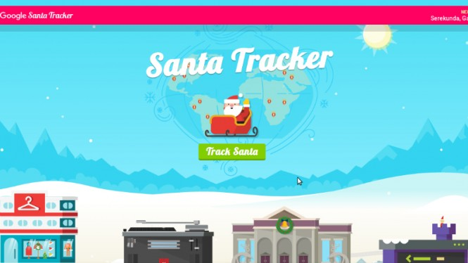 Google Santa Tracker.