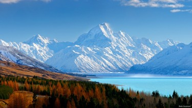 Aoraki Mount Cook National Park Canterbury, Selandia Baru.