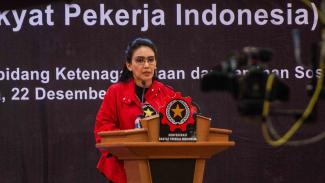 Ketua Umum Konfederasi Rakyat Pekerja Indonesia (KRPI), Rieke Diah Pitaloka