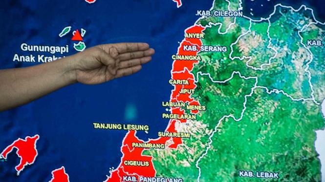 Ilustrasi pemetaan penanganan korban bencana alam