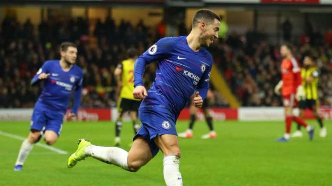 Winger Chelsea, Eden Hazard.