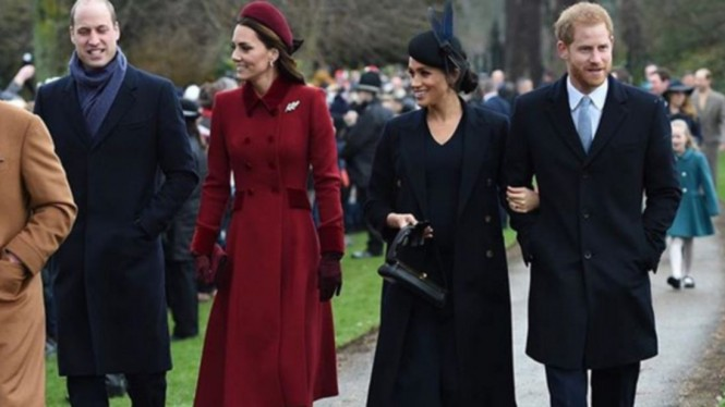 Pangeran William, Kate Middleton, Meghan Markle, Pangeran Harry