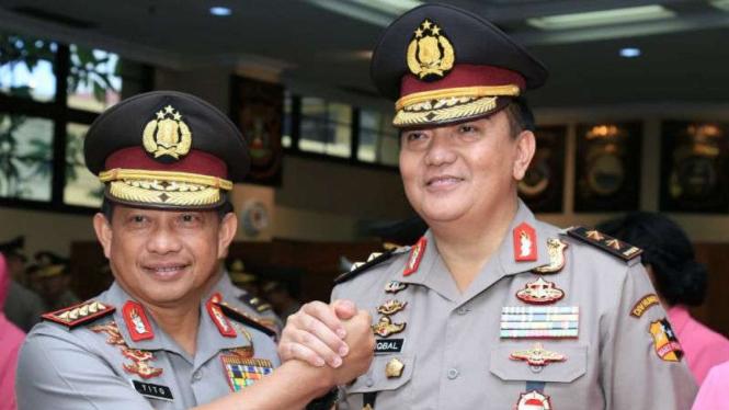 Kapolri Jenderal Tito Karnavian dan Kadiv Humas Polri Irjen Polisi M Iqbal
