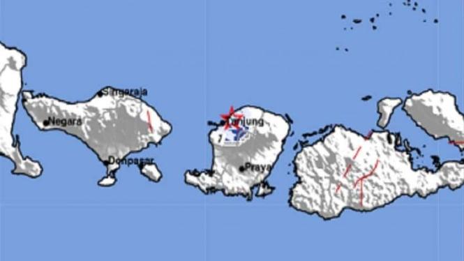 Gempa bumi mengguncang Lombok.