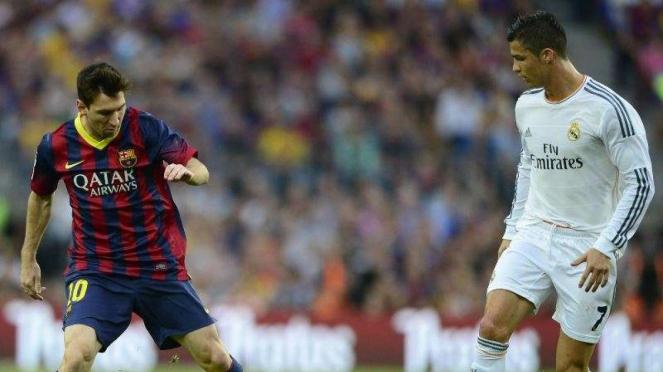 Lionel Messi (kiri) dan Cristiano Ronaldo (kanan)