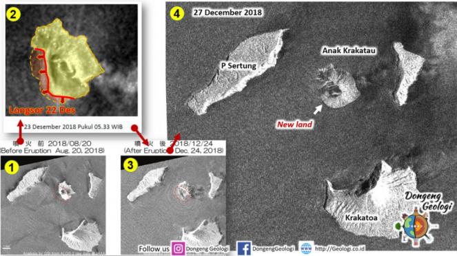Citra satelit Gunung Anak Krakatau.