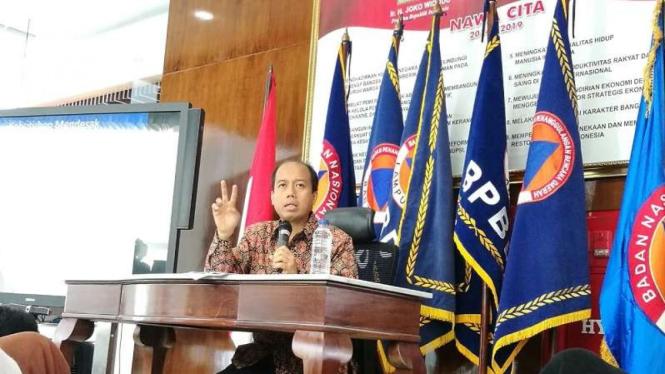 Mantan Kepala Pusat Data dan Informasi BNPB, (alm) Sutopo Purwo Nugroho.