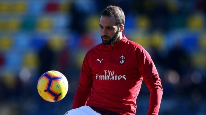 Penyerang AC Milan, Gonzalo Higuain