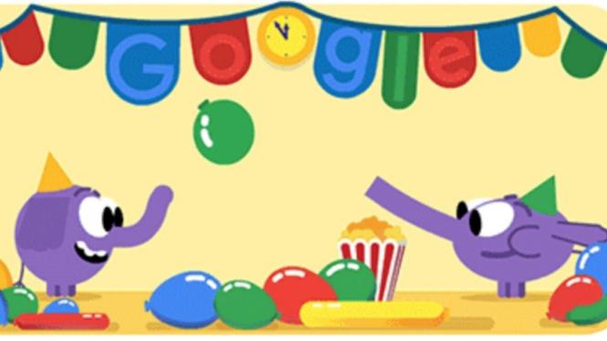 Google Doodle akhir tahun baru 2018