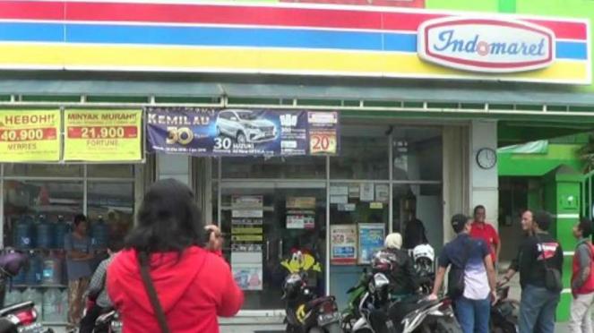 Karyawan Indomaret di sekap dan dirampok di Depok.