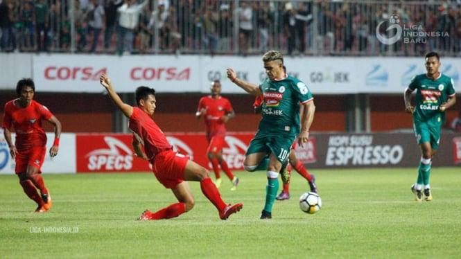 Cuplikan pertandingan Madura FC melawan PSS Sleman pada babak perempat final Liga 2 Indonesia.