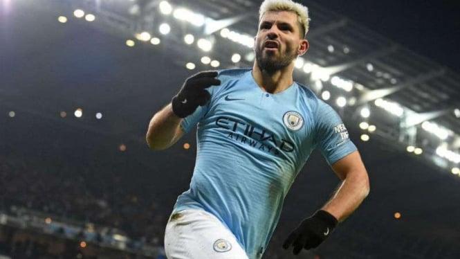 Striker Manchester City, Sergio Aguero