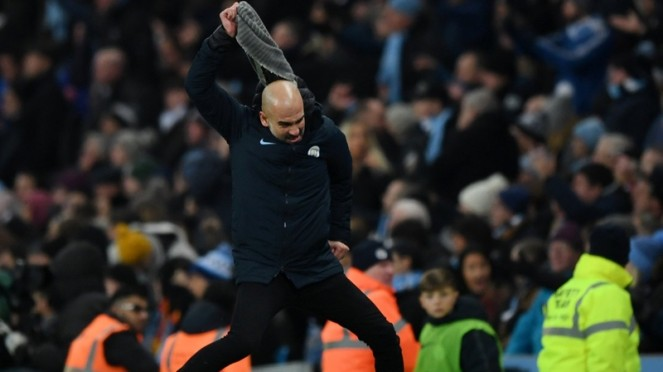 Manajer Manchester City, Pep Guardiola menunjukkan kekesalan
