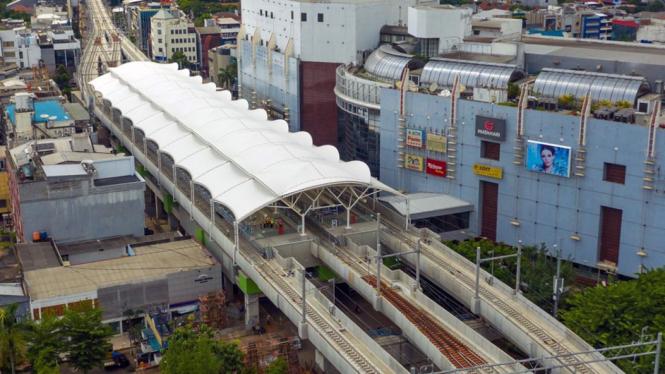 Stasiun MRT Jakarta yang berada di Blok M, Jakarta.