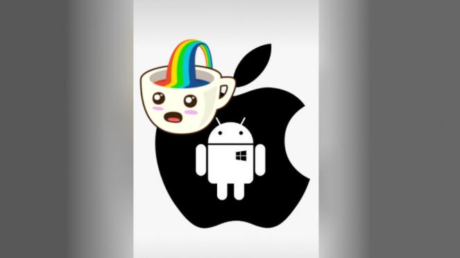 Fitur stiker di gambar WhatsApp