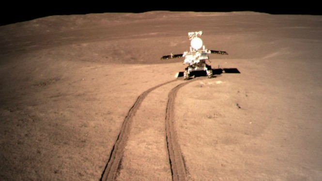 Robot penjelajah China di sisi jauh Bulan, Yutu-2