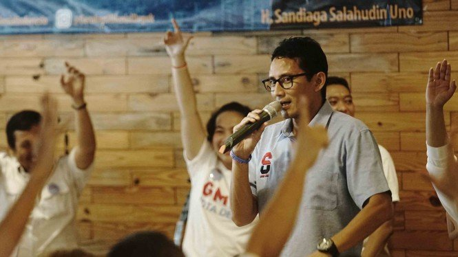 Calon Wakil Presiden nomor urut 02, Sandiaga Uno