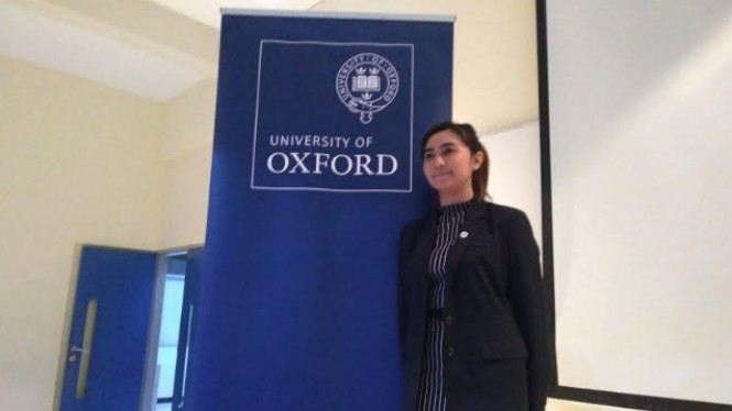 Mahasiswi program doktor Universitas Oxford, Sasza Chyntara Nabilla.