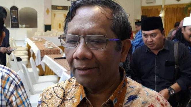 Mantan Ketua Mahkamah Konstitusi, Mahfud MD, dalam forum sarasehan Gerakan Suluh Kebangsaan di Yogyakarta, Rabu, 9 Januari 2019.