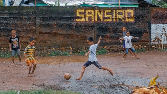 Lapangan San Siro Makassar yang jadi viral di Instagram