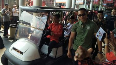 Jokowi setiri Megawati, Ma'ruf Amin