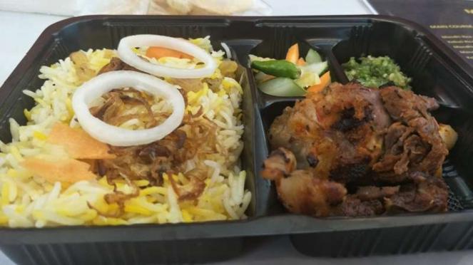Menu nasi mandhi di Moslem Travel Fair