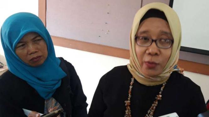 Catur Udi Handayani, kuasa hukum Agni si mahasiswa UGM diduga korban perkosaan, saat ditemui di kantor lembaga swadaya masyarakat Rifka Annisa, Yogyakarta, Kamis, 10 Januari 2019.
