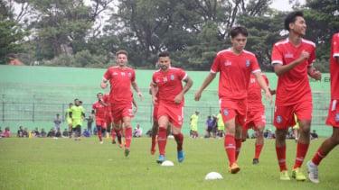 Sesi latihan perdana Arema FC