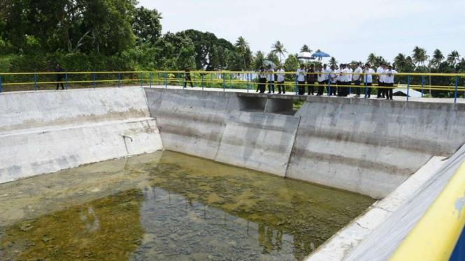 Menteri Keuangan Sri Mulyani saat melihat proyek dari dana Sukuk beberapa waktu lalu.