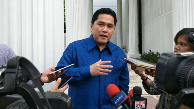 Ketua TKN Jokowi-Ma'ruf Amin, Erick Thohir di Jakarta
