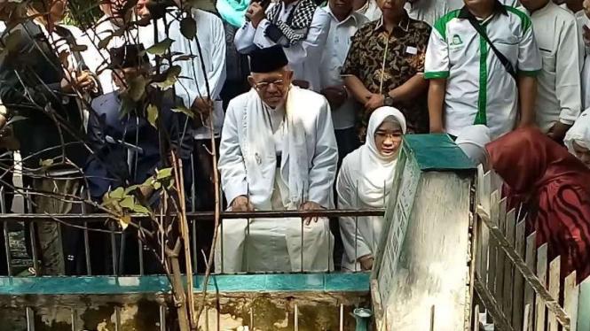 Ma'ruf Amin berziarah ke makam KH Syekh Maulana Yusuf