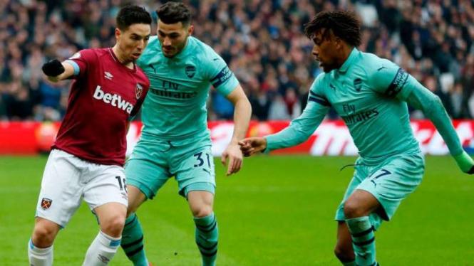 Duel West Ham United vs Arsenal.