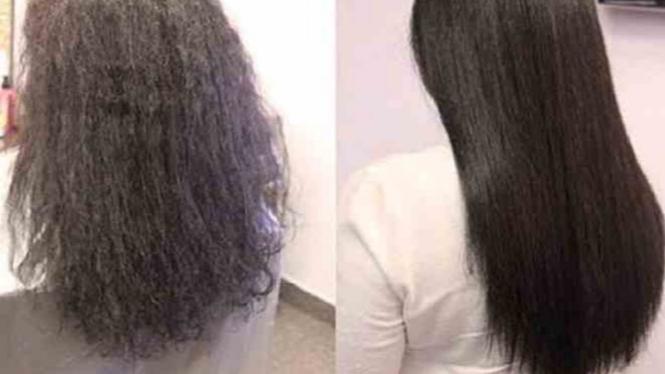 4 Cara Meluruskan Rambut Tanpa Rebonding atau Catokan – VIVA d7c031fc96