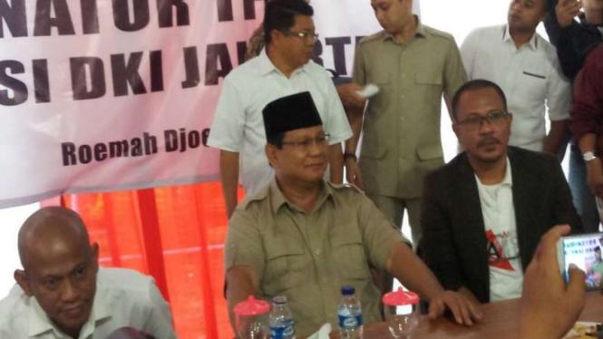 Capres 01 Prabowo Subianto di Rumah Djoeang