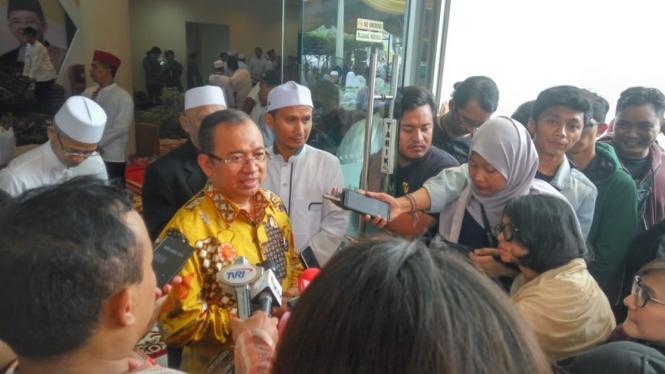 Wakil Ketua Badan Pemenangan Nasional Prabowo Subianto-Sandiaga Uno, Priyo Budi Santoso, di kantor pusat PKS, Jakarta, Minggu, 13 Januari 2019.