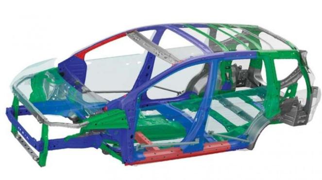 Struktur rangka bodi RISE (Reinforced Impact Safety Evolution)