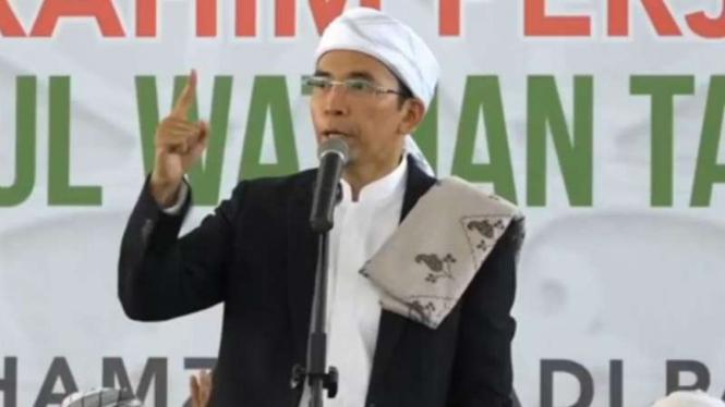 Tuan Guru Bajang saat berceramah di Lombok, NTB.