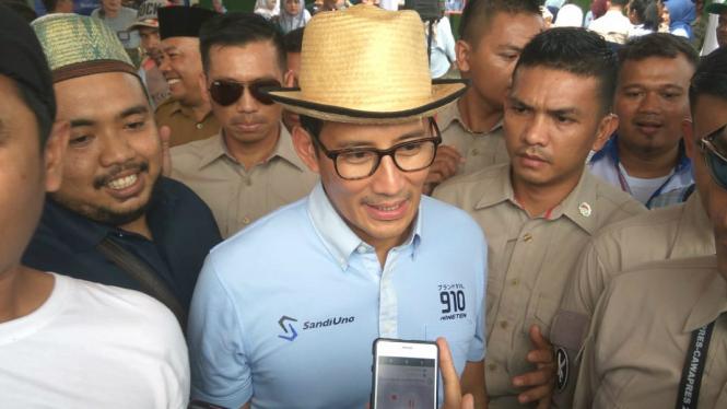 Sandiaga Uno Tidak Bersedia Komentari Pembebasan Abu Bakar Baasyir