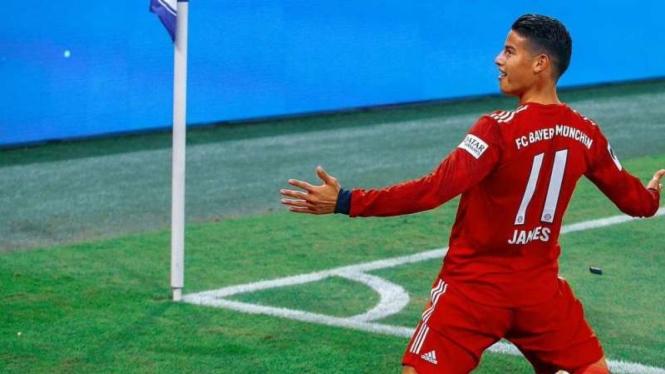 James Rodriguez saat membela Bayern Munich.
