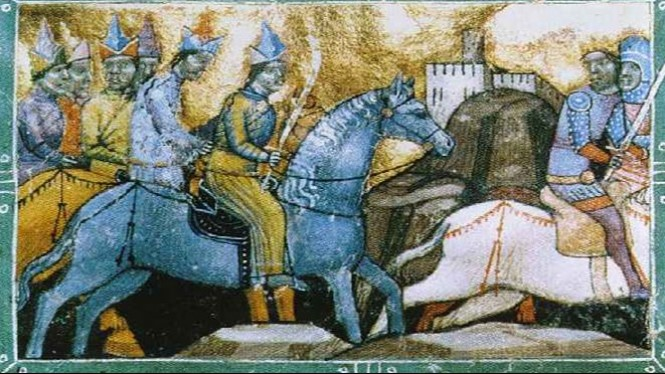 Pasukan perang Mongol.