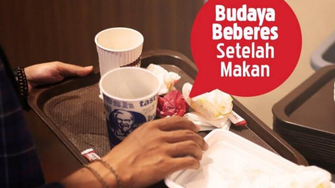Serukan Kampanye Budaya Beberes Setelah Makan, Kfc Diprotes Warganet