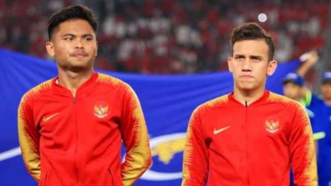 Penggawa timnas Indonesia U-23, Saddil Ramdani dan Egy Maulana Vikri