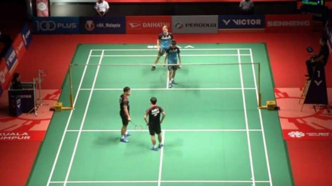 Lawan Mendadak Cedera, Kevin/marcus Lolos Perempatfinal Malaysia