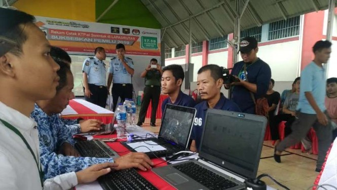 Pilpres Makin Dekat, 1.163 Narapidana Tangerang Rekam Data E-ktp