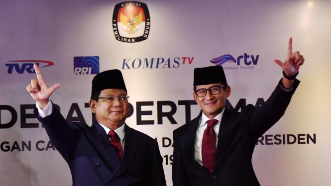 Sebelum Debat Prabowo Sandi Doa Bersama Anak Yatim
