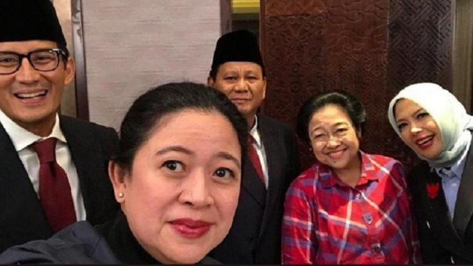 Foto Keakraban Prabowo Dan Megawati Jelang Debat Capres