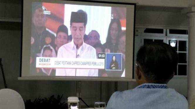 Tak Ada Politikus Temani Wapres Jk Nobar Debat