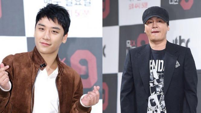 Seungri BIGBANG dan bos YG Entertainment, Yang Hyun Suk.